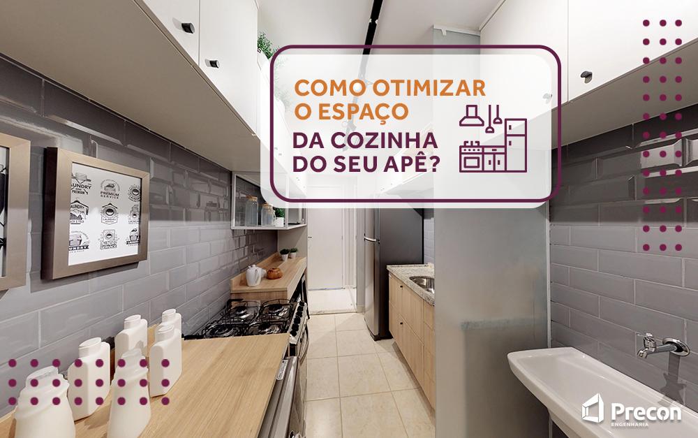 Como otimizar o espaço da cozinha do seu apê